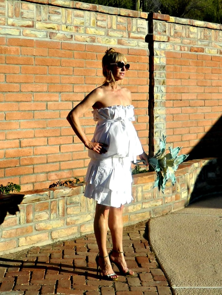 maternity white dress