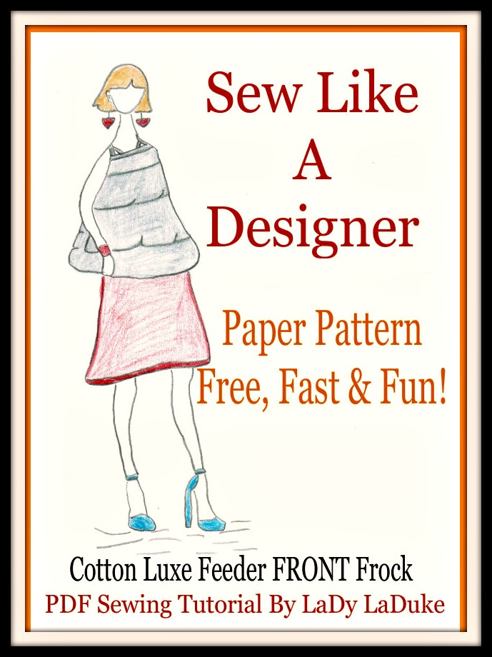 Design Patterns Feeder Frock Cotton Luxe Nursing Cover Sewing Kit ...
